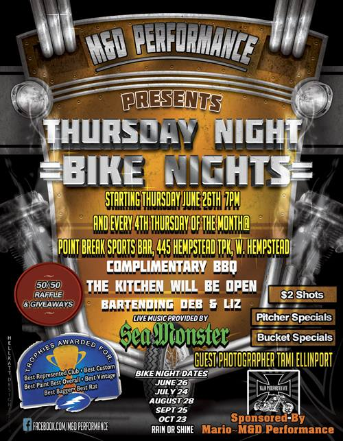 Bike Night with Sea Monster!